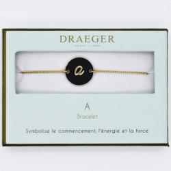 Bracelet lettre A - 14 cm environ réglable