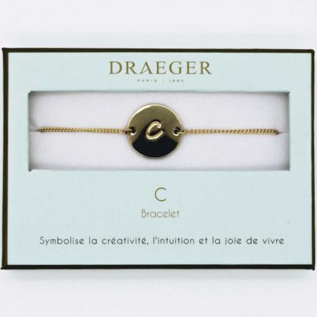 Bracelet lettre C - 14 cm environ réglable