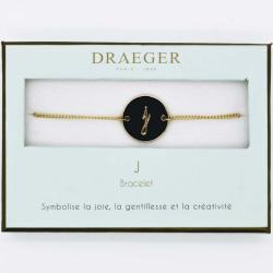 Bracelet lettre J - 14 cm environ réglable