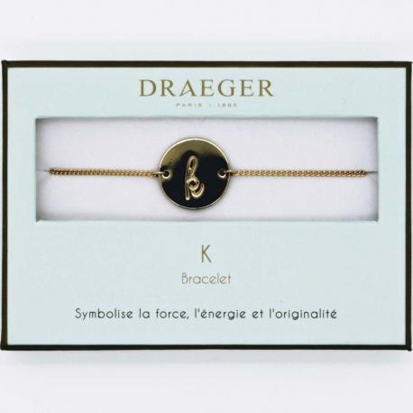Bracelet lettre K - 14 cm environ réglable