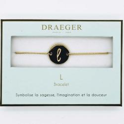 Bracelet lettre L - 14 cm environ réglable