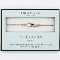 Bracelet motif PLUME - 14 cm environ réglable
