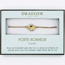Bracelet motif TREFLE - 14 cm environ réglable
