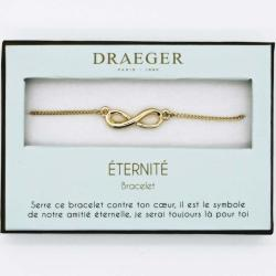 Bracelet motif INFINI - 14 cm environ réglable