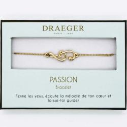 Bracelet motif NOTE MUSIQUE - 14 cm environ réglable