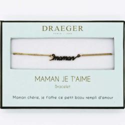Bracelet prénom personnalisé TEXTE MAMAN - 14 cm environ réglable