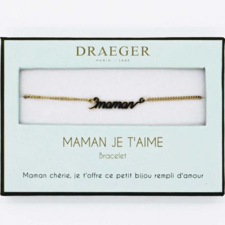 Bracelet prénom TEXTE MAMAN - 14 cm environ réglable