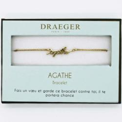 Bracelet prénom personnalisé AGATHE - 14 cm environ réglable