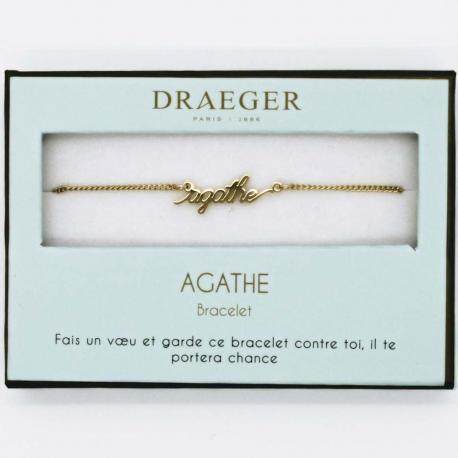 Bracelet prénom AGATHE - 14 cm environ réglable