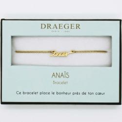 Bracelet prénom personnalisé ANAIS - 14 cm environ réglable