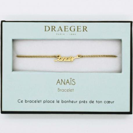 Bracelet prénom ANAIS - 14 cm environ réglable