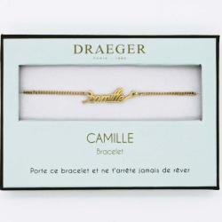 Bracelet prénom personnalisé CAMILLE - 14 cm environ réglable