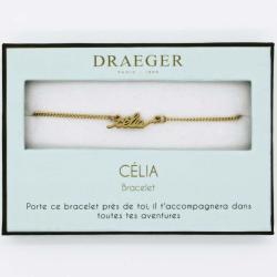 Bracelet prénom personnalisé CELIA - 14 cm environ réglable