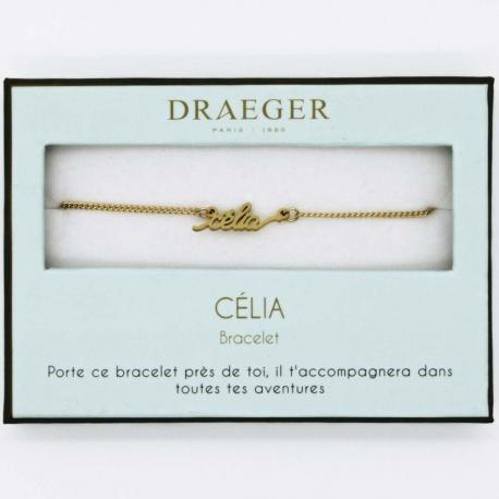 Bracelet prénom CELIA - 14 cm environ réglable
