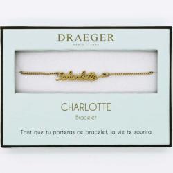 Bracelet prénom personnalisé CHARLOTTE - 14 cm environ réglable