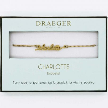 Bracelet prénom CHARLOTTE - 14 cm environ réglable
