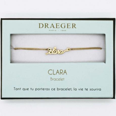 Bracelet prénom CLARA - 14 cm environ réglable