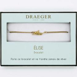 Bracelet prénom personnalisé ELISE - 14 cm environ réglable