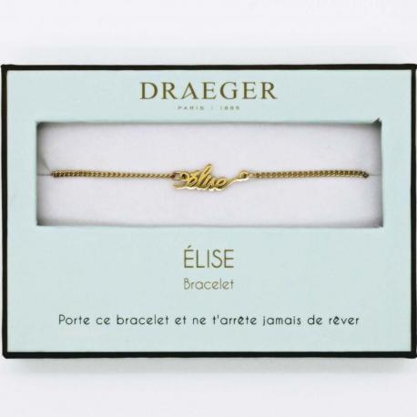 Bracelet prénom ELISE - 14 cm environ réglable
