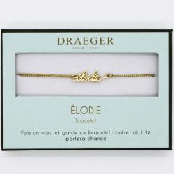 Bracelet prénom personnalisé ELODIE - 14 cm environ réglable