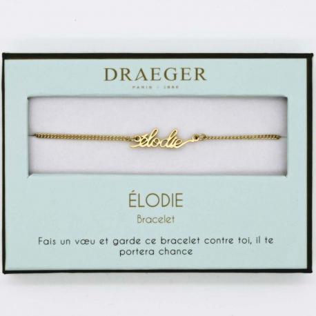 Bracelet prénom ELODIE - 14 cm environ réglable