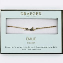 Bracelet prénom personnalisé EMILIE - 14 cm environ réglable