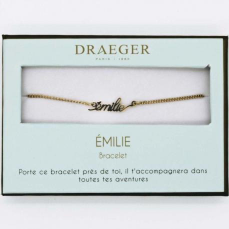 Bracelet prénom EMILIE - 14 cm environ réglable