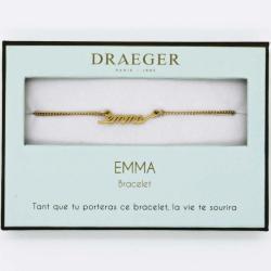Bracelet prénom personnalisé EMMA - 14 cm environ réglable