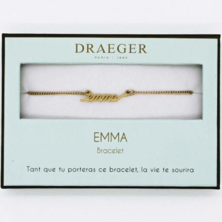 Bracelet prénom EMMA - 14 cm environ réglable