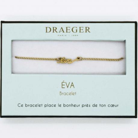 Bracelet prénom EVA - 14 cm environ réglable