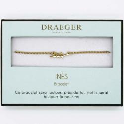 Bracelet prénom personnalisé INES - 14 cm environ réglable