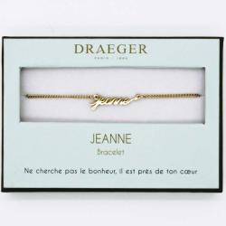 Bracelet prénom personnalisé JEANNE - 14 cm environ réglable