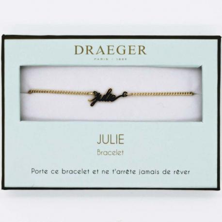 Bracelet prénom JULIE - 14 cm environ réglable