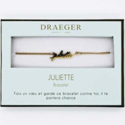 Bracelet prénom personnalisé JULIETTE - 14 cm environ réglable