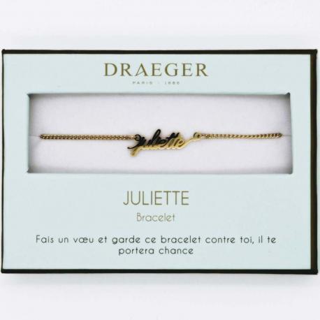 Bracelet prénom JULIETTE - 14 cm environ réglable