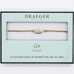 Bracelet prénom personnalisé LEA - 14 cm environ réglable