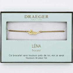 Bracelet prénom personnalisé LENA - 14 cm environ réglable