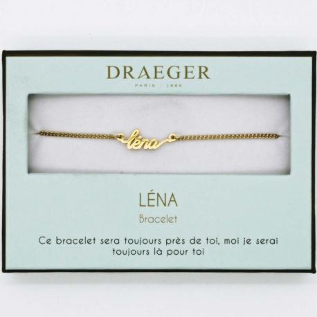 Bracelet prénom LENA - 14 cm environ réglable