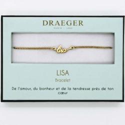 Bracelet prénom personnalisé LISA - 14 cm environ réglable