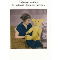 Carte humour de Cath Tate - On trouve toujours le partenaire idéal... - 10.5x15 cm
