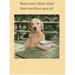 Carte humour de Cath Tate - Mais votre dîner était bien meilleur... - 10.5x15 cm