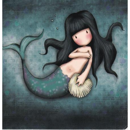 Carte Santoro Gorjuss - La sirène - 13.5x13.5 cm