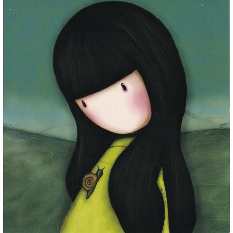 Carte Santoro Gorjuss - L'escargot - 13.5x13.5 cm