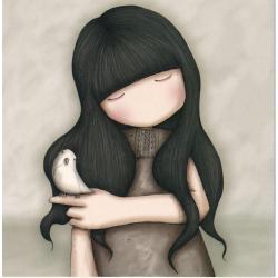 Carte Santoro Gorjuss - L'oiseau - 13.5x13.5 cm