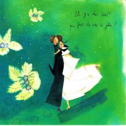 """Carte Anne-Sophie Rutsaert - Il y a des """"oui"""" qui font la vie si jolie... - 14x14 cm"""