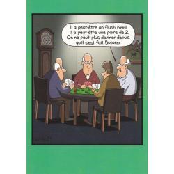 Carte humour Tim Whyatt - Flush royal ?... - V 12x17 cm