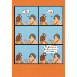 Carte humour Tim Whyatt - Arrête moi si je deviens trop technique... - V 12x17 cm