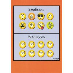 Carte humour Tim Whyatt - Emoticons...Botoxicons... - V 12x17 cm