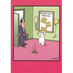 Carte humour Tim Whyatt - Appel de la nature... - V 12x17 cm