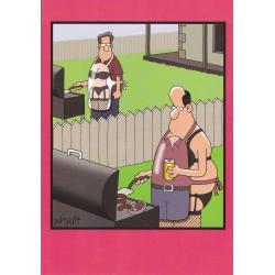 Carte humour Tim Whyatt - Barbecue... - V 12x17 cm